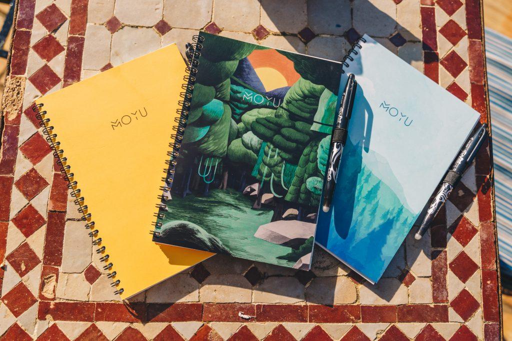 Verschillende designs van de notitieboekjes